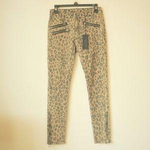 NWT Carmar Leopard Print Skinny Jeans